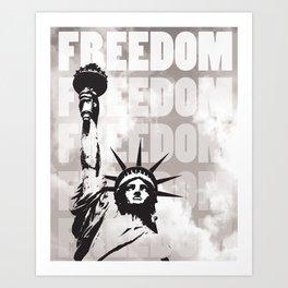 Freedom - White Art Print