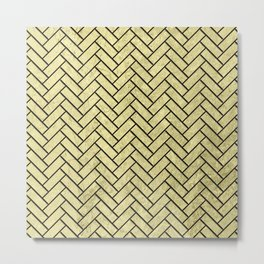 Herringbone Pattern Metal Print