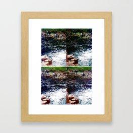 anachronistic acceleration accumulated analogically Framed Art Print