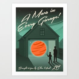 A Mars in Every Garage Art Print