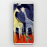 giraffes iPhone & iPod Skins featuring Giraffes by Ša Rūnė