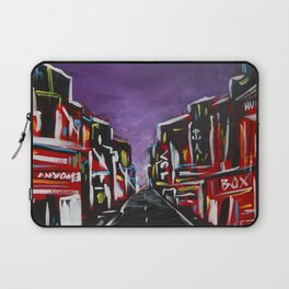 An Empty Street in an Asian City At Night Laptop Sleeve