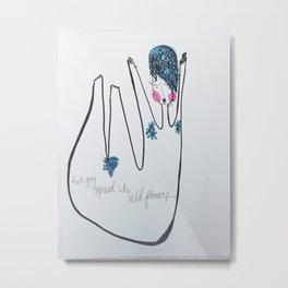 Her Joy Spread Like Wildflowers by: Michelle Morrison Metal Print