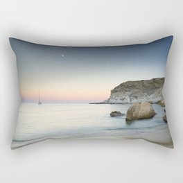 """SuperMoon in Plomo Beach"" Rectangular Pillow"