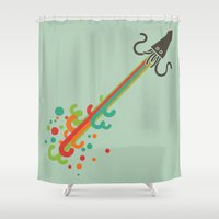 kraken Shower Curtains featuring Kraken time by Picomodi