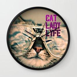 Cat Lady Lyfe Wall Clock