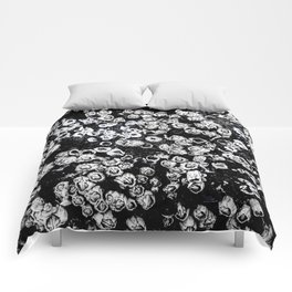 Black and White Barnacles Comforters