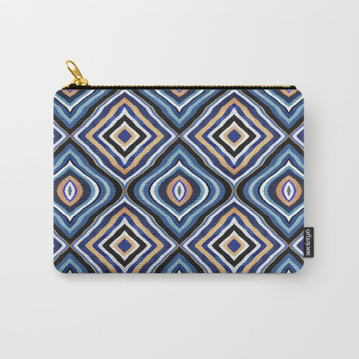 Blue Moroccan  Carry-All Pouch
