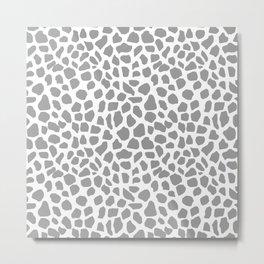 Animal print spots dot dots pattern minimal grey and white basic nursery art Metal Print