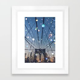 New York City Lights Framed Art Print