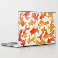 goldfish Laptop & iPad Skins featuring Goldfish by Cat Coquillette