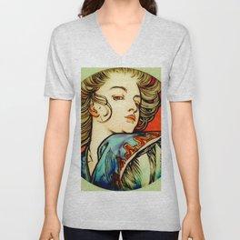 "Alphonse Mucha ""Portrait of a Young Woman"" Unisex V-Neck"
