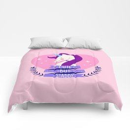 Cute But Stabby, Funny, Quote Comforters