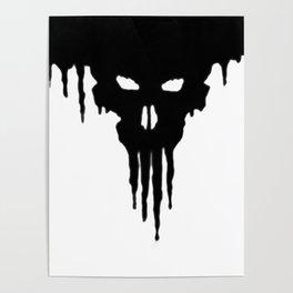 Dissolved Black Skull Poster