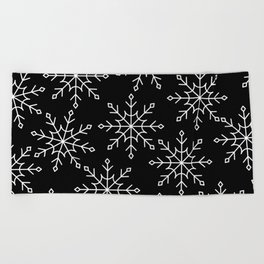 Give Me a Black & White Christmas - 3 Beach Towel