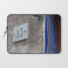 13 - Blue Starry Night Door Laptop Sleeve