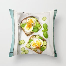 Healthy sandwiches Throw Pillow