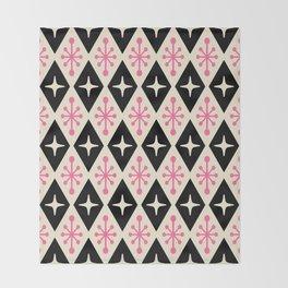 Mid Century Modern Atomic Triangle Pattern 113 Throw Blanket