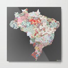 Brazil map #2 Metal Print