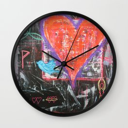 There is a bluebird in my heart Wall Clock
