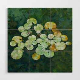 Tranquil lily pond Wood Wall Art
