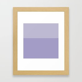 Pastel Lavender Tones Framed Art Print