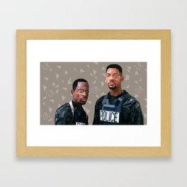 Geometric Bad Boyz Framed Art Print