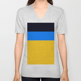 Yellow Blue Unisex V-Neck