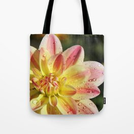 Dahlia Droplets Tote Bag