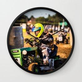 Lawnmower Race Wall Clock
