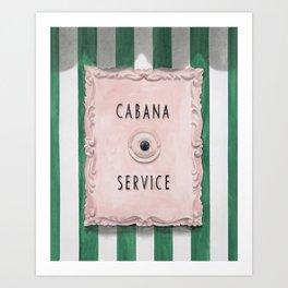Press For Cabana Service Kunstdrucke