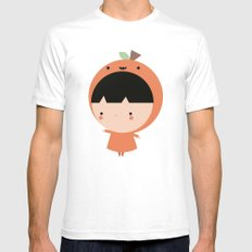 Cute Pumpkin SMALL Mens Fitted Tee White