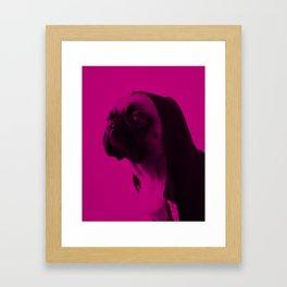 Pink Pug Framed Art Print