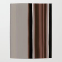 Ombre Brown Earth Tones Poster