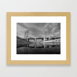 The Sixth Street Bridge, A Reflection Framed Art Print