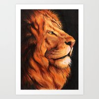 The King of Africa Art Print