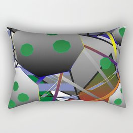 Composition with  octagon Rectangular Pillow