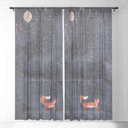 Fox Dream Sheer Curtain