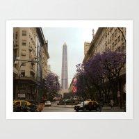 El Obelisco, Buenos Aires  Art Print
