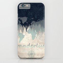 world map wanderlust forest 2 iPhone Case