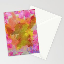 Splatted Stitch Stationery Cards