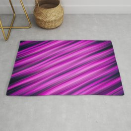 Abstract background blur motion pink strip Rug