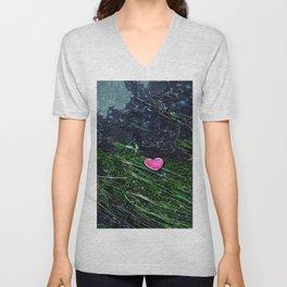 discarded heart Unisex V-Neck