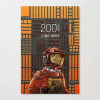 2001 a space odyssey Canvas Prints featuring 2001: A Space Odyssey by Temescu Illustration