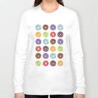 doughnut Long Sleeve T-shirts featuring Doughnut delights by Phibbit