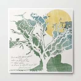Trees in whose shade we shall never sit Metal Print