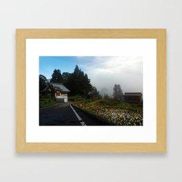 Mushigame Morning Framed Art Print