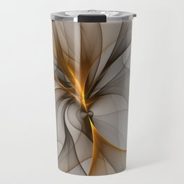 Elegant Chaos, Abstract Fractal Art Travel Mug