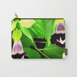 torenias with black and white blooms Carry-All Pouch
