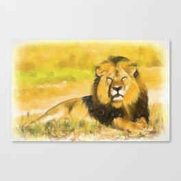 Magnificent Lion Canvas Print